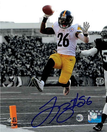 Le'Veon Bell Signed Leaping in White Spotlight 16x20