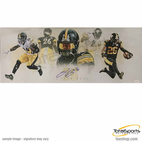 Le'Veon Bell Autographed TSE Exclusive Panoramic Collage