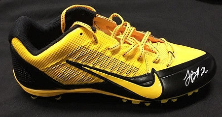 Pittsburgh Steelers LeVeon Bell Autographed Black & Gold Cleat with Gold Swoosh (low top)