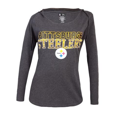 Ladies' Steelers Knit Showpiece Hooded Top