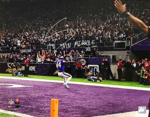 Stefon Diggs Autographed In End Zone 16x20 Photo with