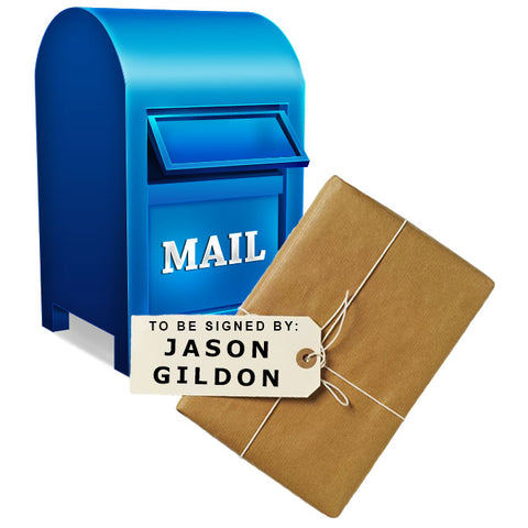MAIL-IN: Get YOUR FLAT OR MINI Signed by JASON GILDON