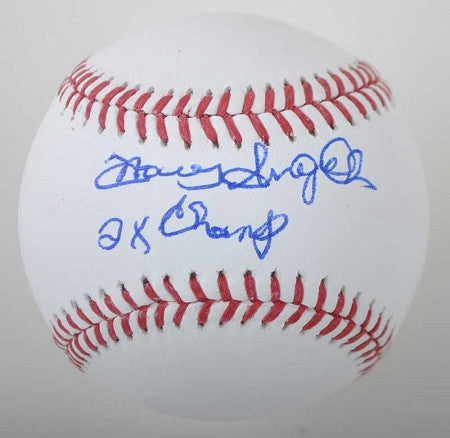 Manny Sanguillen Official MLB Baseball Autographed inscribed 2X Champs
