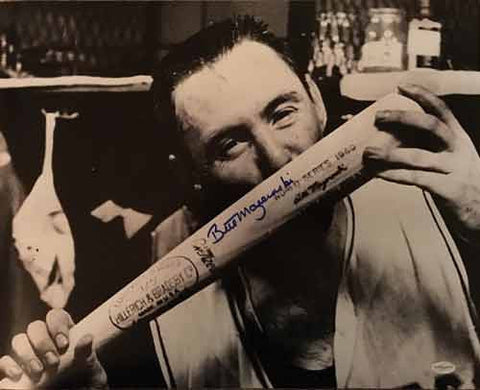 Bill Mazeroski Autographed Kissing Bat 16x20 Photo