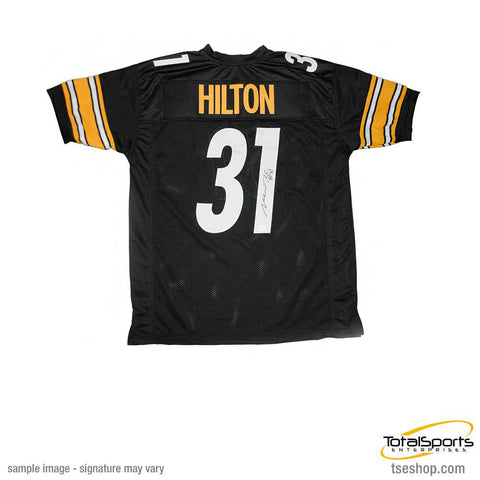 Mike Hilton Signed Custom Black Football Jersey with