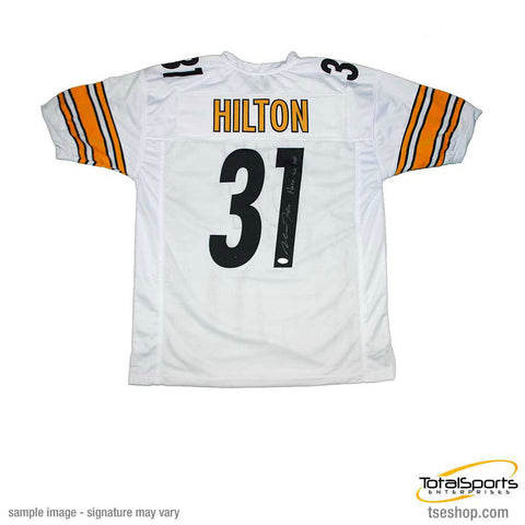 Mike Hilton Signed Custom White Football Jersey with