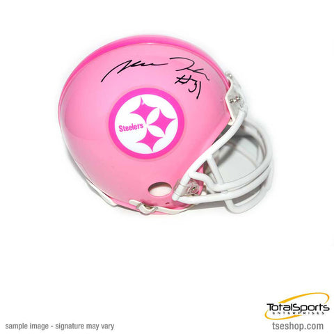 Mike Hilton Signed Pink Pittsburgh Steelers Logo Mini Helmet