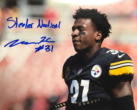 Mike Hilton Signed Close-up 8x10 Photo with Steeler Nation