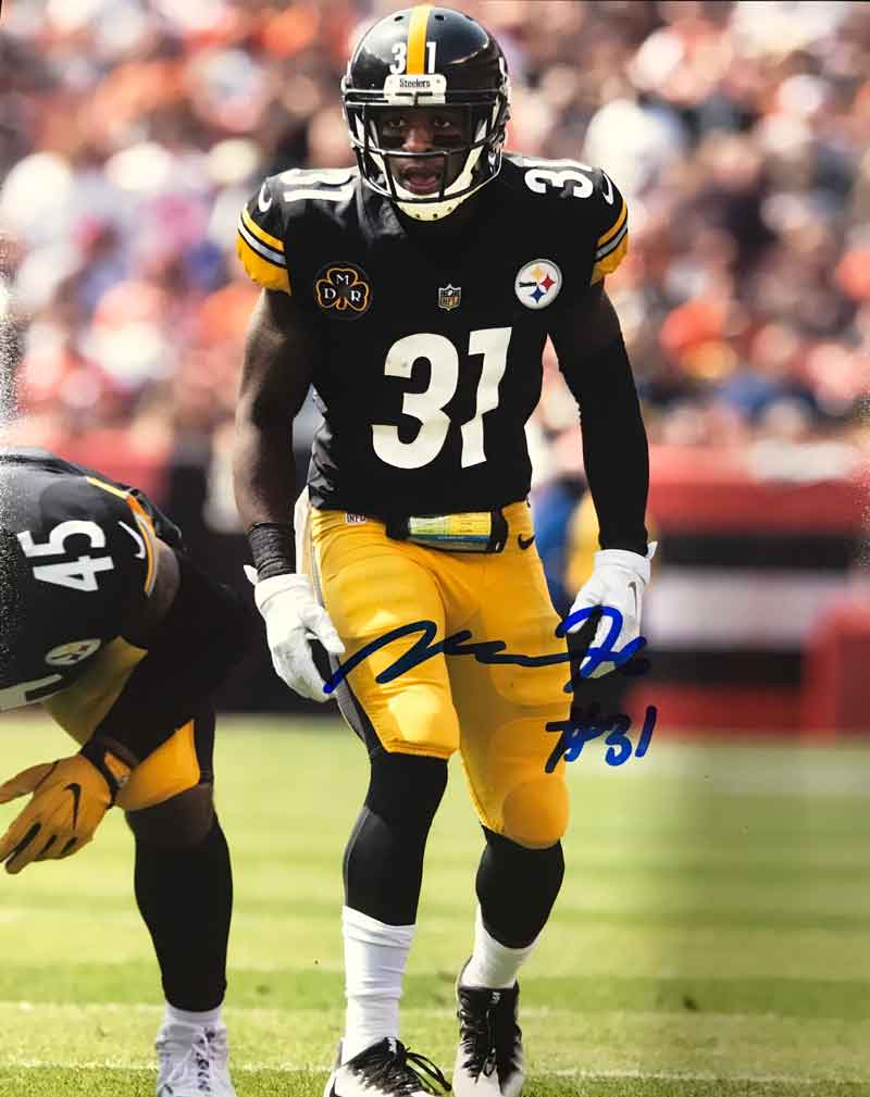 Mike Hilton Signed In-Game (Ready) 8x10 Photo