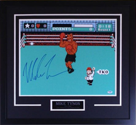 Mike Tyson Punch Out 16x20 Signed - Professionally Framed