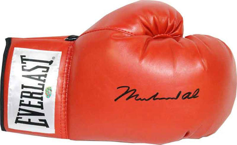 Muhammad Ali Autographed Red Everlast Boxing Glove