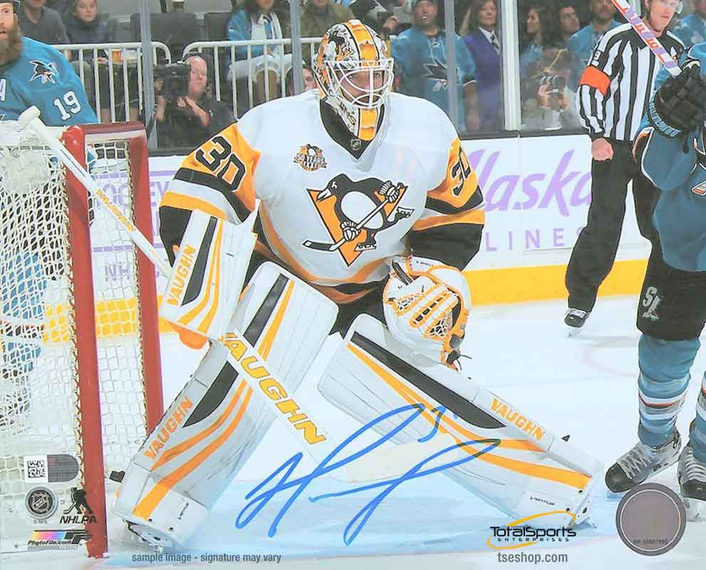 Matt Murray Autographed White Uniform in Crease 16x20