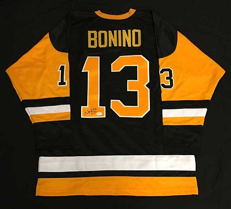 Nick Bonino Autographed Pittsburgh Penguins Black Jersey