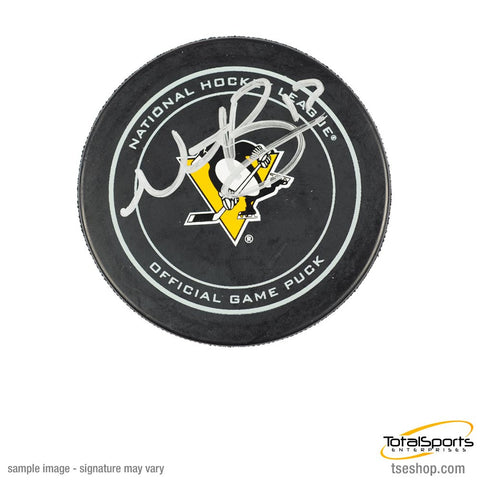 Nick Bonino Autographed Pittsburgh Penguins Game Model Puck