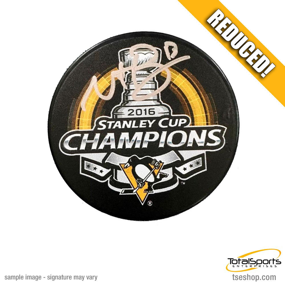 Nick Bonino Autographed 2016 Stanley Cup Logo Puck