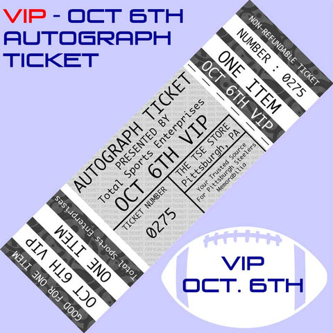 VIP -  AUTOGRAPH TICKET: Get YOUR PREMIUM Signed by Shazier, Kirkland, Gildon and Lloyd