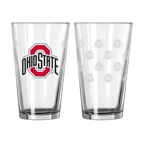 Ohio State Satin Etched Pint Glass