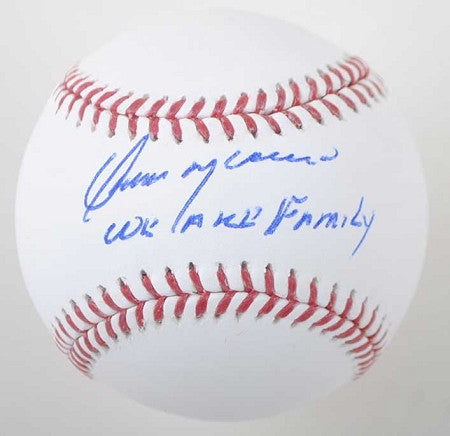 Omar Moreno Autographed MLB Baseball Inscribed We Are Family