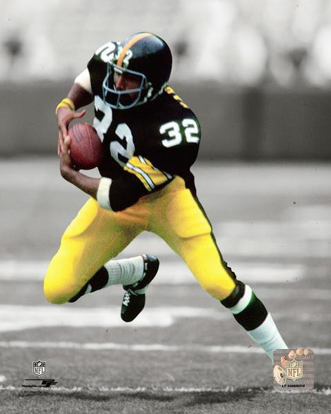 Franco Harris Spotlight Action Black 8x10 Photo Unsigned