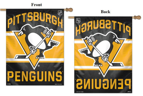 Penguins Wincraft Single Sided Vertical Flag 27x37