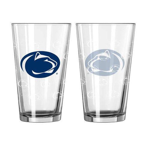Penn State Satin Etched Pint Glass