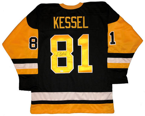 Phil Kessel Autographed Custom Black/Gold Hockey Jersey