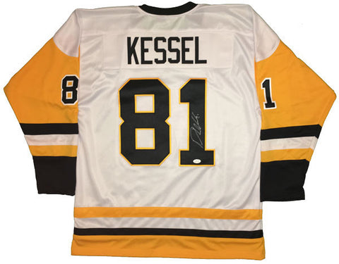 Phil Kessel Autographed Custom White/Gold Hockey Jersey
