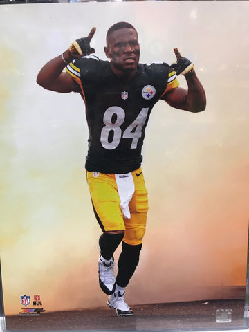 Antonio Brown Entrance Pointing Up 16x20 Photo - Unsigned