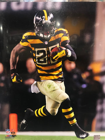 Le'Veon Bell Running With Ball Bumble Bee Jersey 16x20 Photo - UNSIGNED