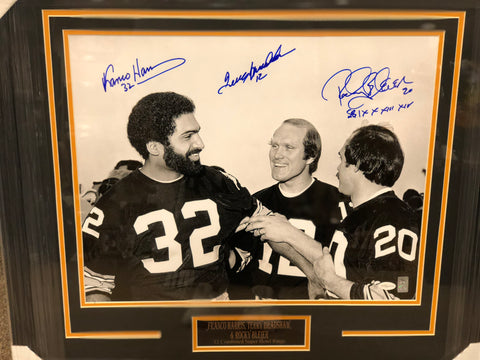 Bleier (with inscription!), Bradshaw, Harris Black and White Photo Signed 16x20 - Professionally Framed