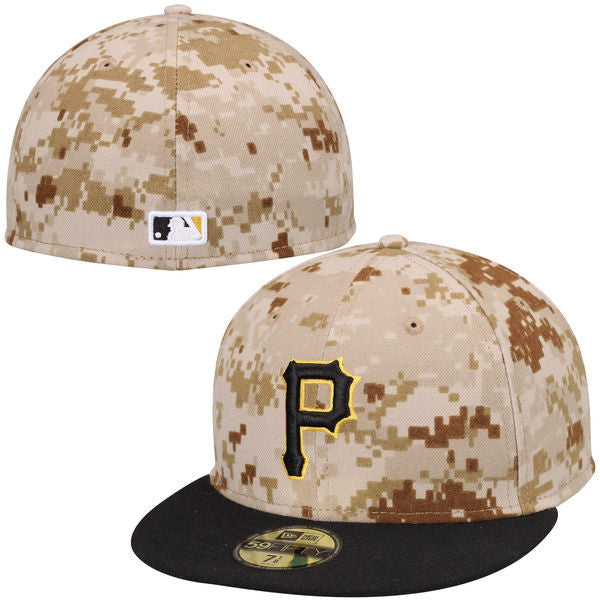 Pirates Fitted Camo Baseball Hat (Size 7)