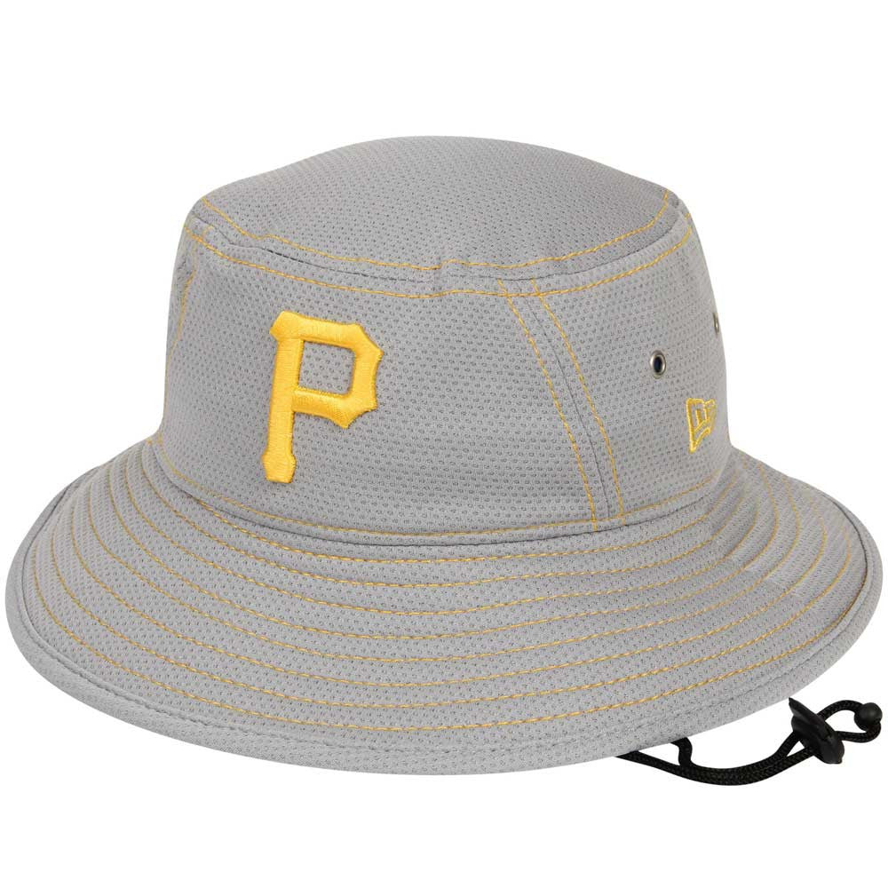 Pirates New Era Gray Bucket Hat