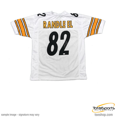 83257627e Antwaan Randle-El Autographed Custom White Football Jersey