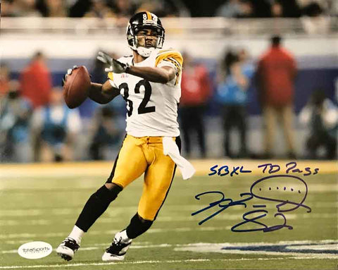 Antwaan Randle-El Autographed Ready to Throw 16x20 Photo with SB XL TD PASS