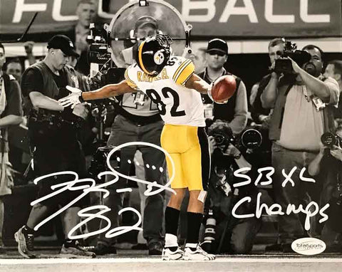 Antwaan Randle-El Autographed In Endzone Spotlight 16x20 Photo with SB XL Champs