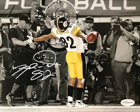 f5df8d93cd1 Antwaan Randle-El Autographed In Endzone Spotlight 8x10 Photo