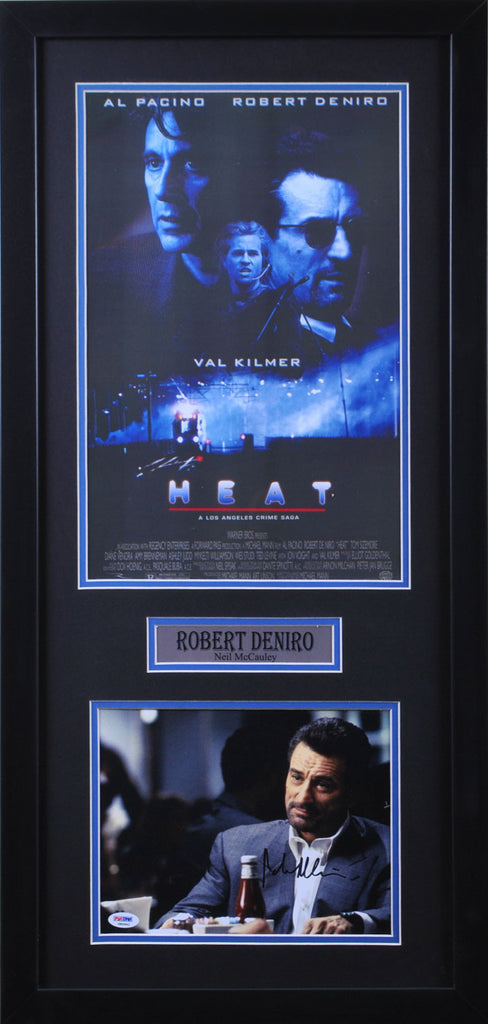 Robert DeNiro Signed 8x10 with HEAT 11x17 Poster