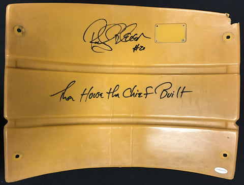 Rocky Bleier Authentic Signed 3 Rivers Stadium Seat Back with 'House the Chief Built' - Yellow