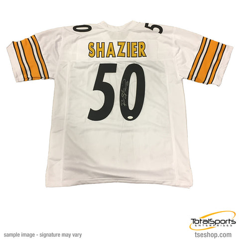 Ryan Shazier Autographed Pittsburgh Steelers White #50 Away Custom Jersey