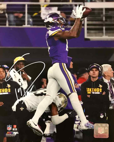 Stefon Diggs Autographed MN Miracle Catch Over Saints 16x20 Photo