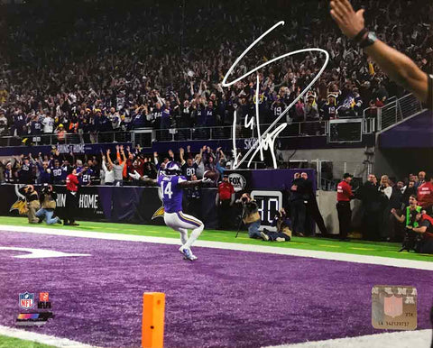 Stefon Diggs Autographed In End Zone 16x20 Photo