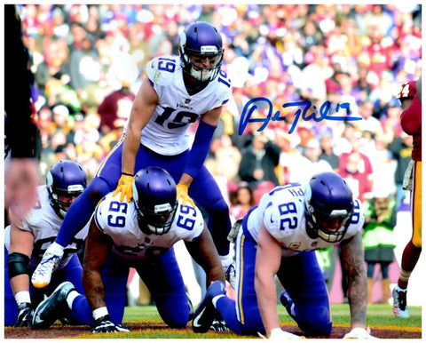 Adam Thielen Autographed Leap Frog Celebration 8x10 HORIZONTAL Photo