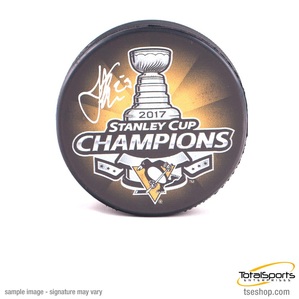 Scott Wilson Signed 2017 Stanley Cup Champions Puck
