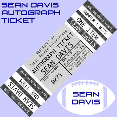 AUTOGRAPH TICKET: Get ANY ITEM OF YOURS Signed IN PERSON by SEAN DAVIS