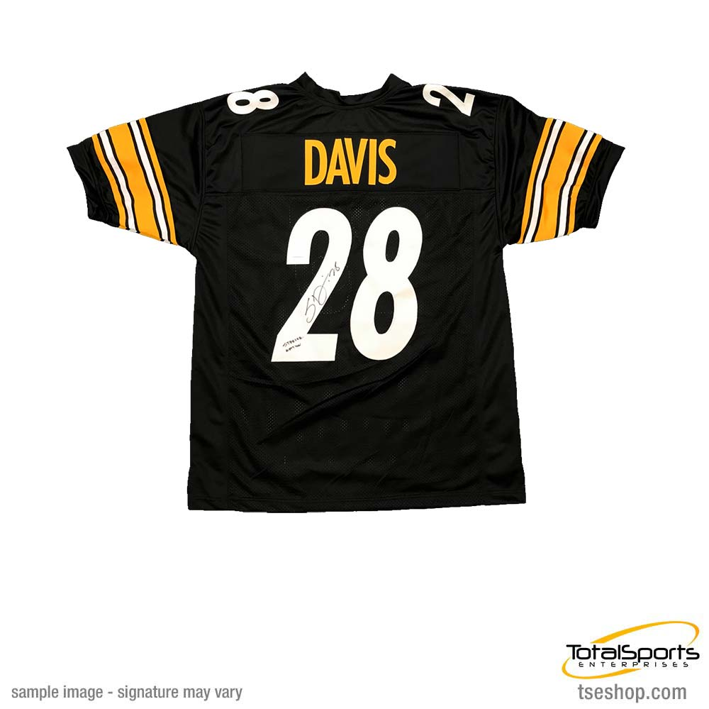 "Sean Davis Signed Custom Black Football Jersey with ""Steeler Nation"""