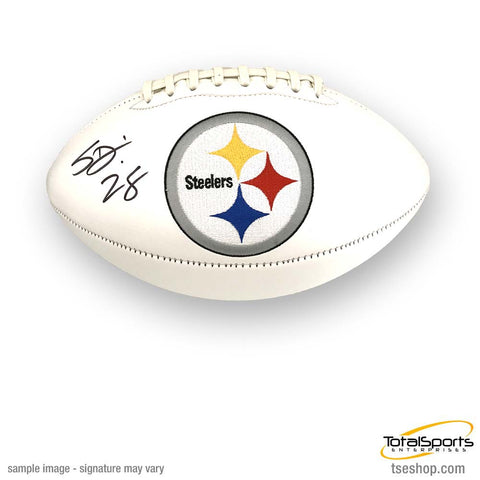Sean Davis Signed Pittsburgh Steelers White Logo Football