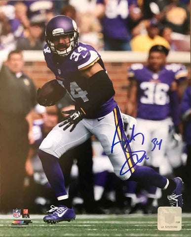 Andrew Sendejo Autographed Running in Purple 8x10 Photo