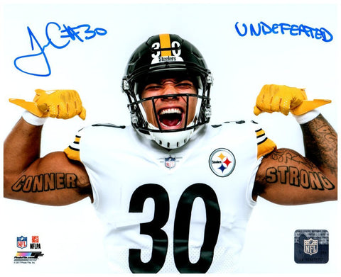 James Conner Autographed Flexing 16x20 Photo with