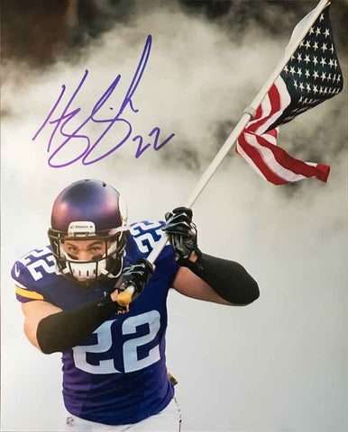 Harrison Smith Autographed Entrance with American Flag 8x10 Photo