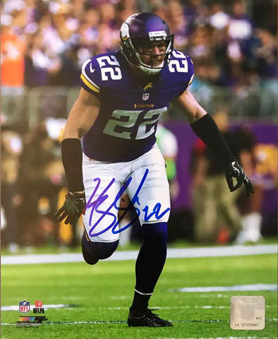 Harrison Smith Autographed Running in Purple 8x10 Photo